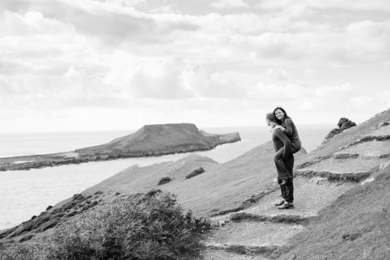 Wales Rhossili Bay Engagement Photographer-59