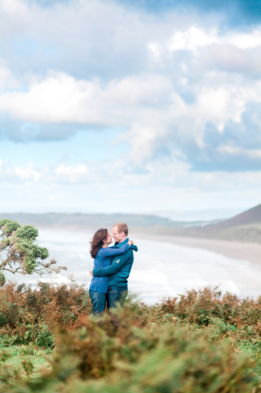 Wales Rhossili Bay Engagement Photographer-8
