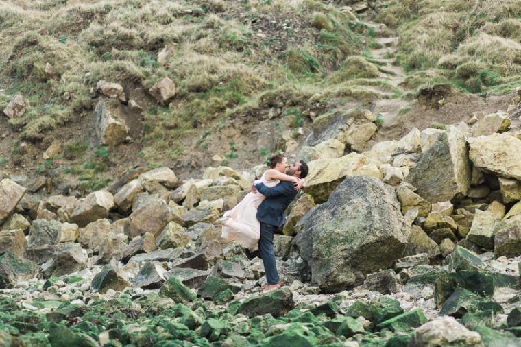 Annie Crossman Photography Lulworth Cove Durdle Door Dorset Engagement Shoot-052