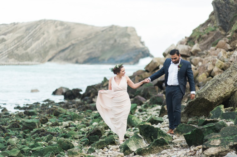 Annie Crossman Photography Lulworth Cove Durdle Door Dorset Engagement Shoot-053