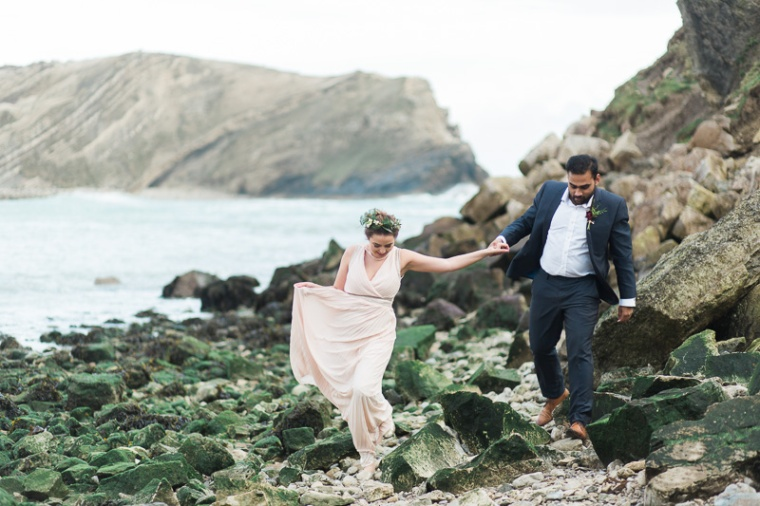 Annie Crossman Photography Lulworth Cove Durdle Door Dorset Engagement Shoot-054
