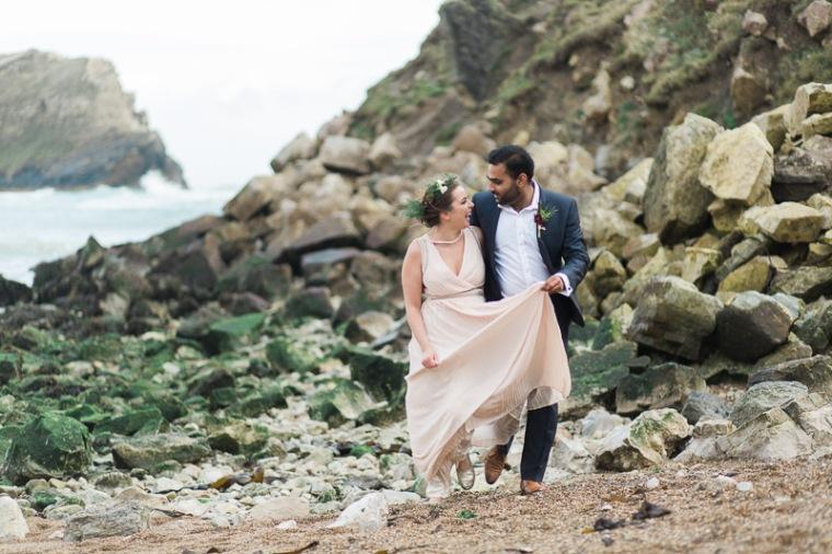 Annie Crossman Photography Lulworth Cove Durdle Door Dorset Engagement Shoot-056