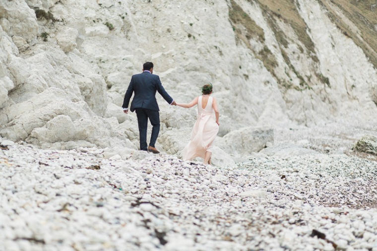 Annie Crossman Photography Lulworth Cove Durdle Door Dorset Engagement Shoot-060