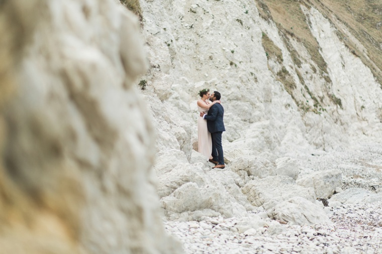 Annie Crossman Photography Lulworth Cove Durdle Door Dorset Engagement Shoot-061