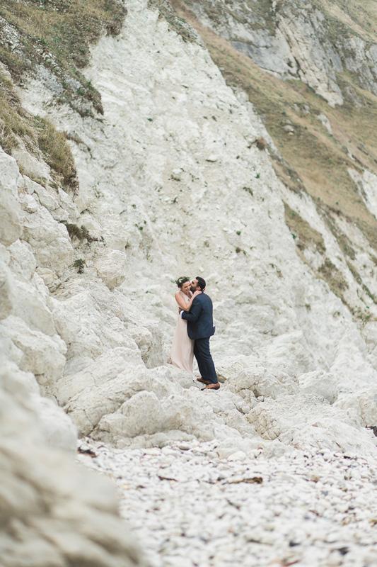 Annie Crossman Photography Lulworth Cove Durdle Door Dorset Engagement Shoot-063