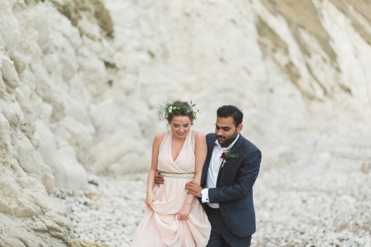Annie Crossman Photography Lulworth Cove Durdle Door Dorset Engagement Shoot-067