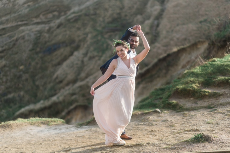 Annie Crossman Photography Lulworth Cove Durdle Door Dorset Engagement Shoot-070