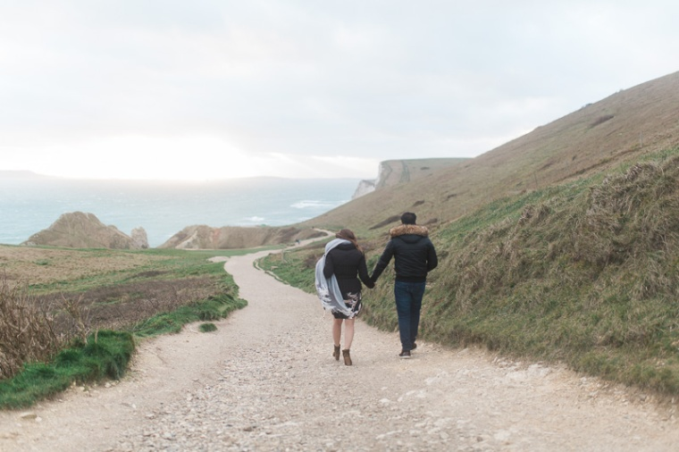 Annie Crossman Photography Lulworth Cove Durdle Door Dorset Engagement Shoot-098