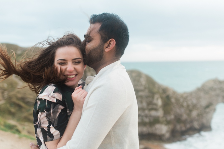 Annie Crossman Photography Lulworth Cove Durdle Door Dorset Engagement Shoot-105
