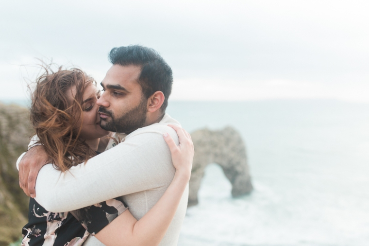 Annie Crossman Photography Lulworth Cove Durdle Door Dorset Engagement Shoot-107