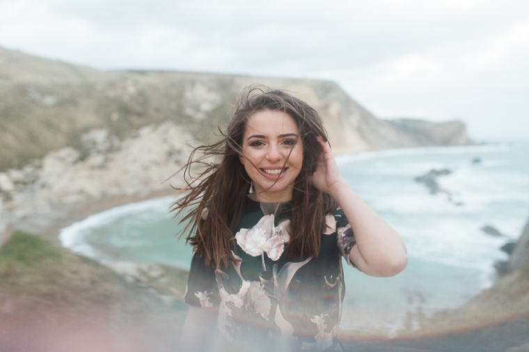 Annie Crossman Photography Lulworth Cove Durdle Door Dorset Engagement Shoot-111