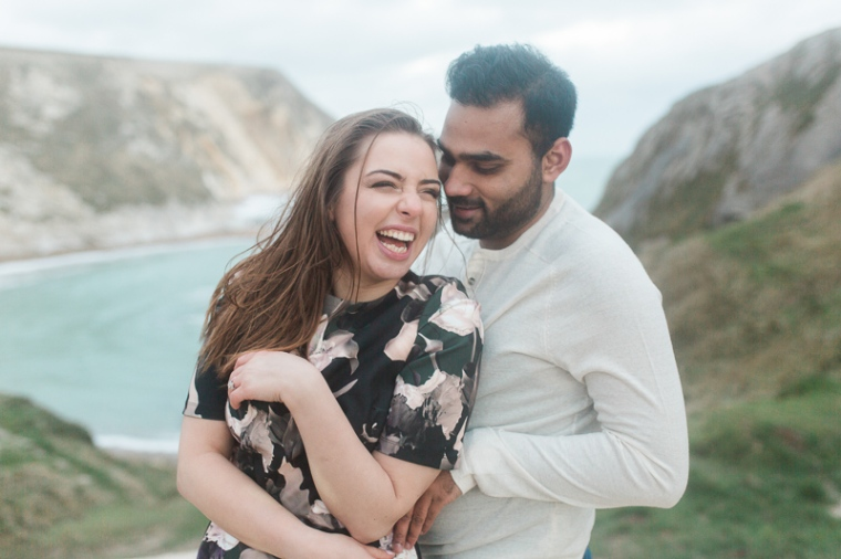 Annie Crossman Photography Lulworth Cove Durdle Door Dorset Engagement Shoot-114