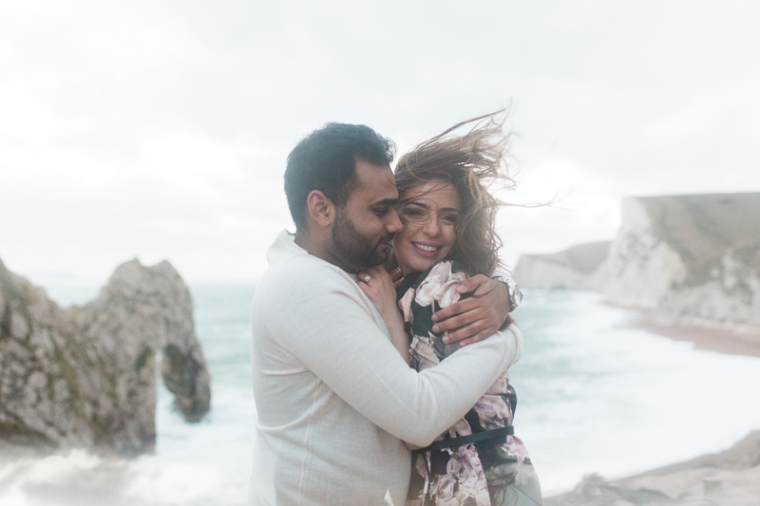 Annie Crossman Photography Lulworth Cove Durdle Door Dorset Engagement Shoot-116