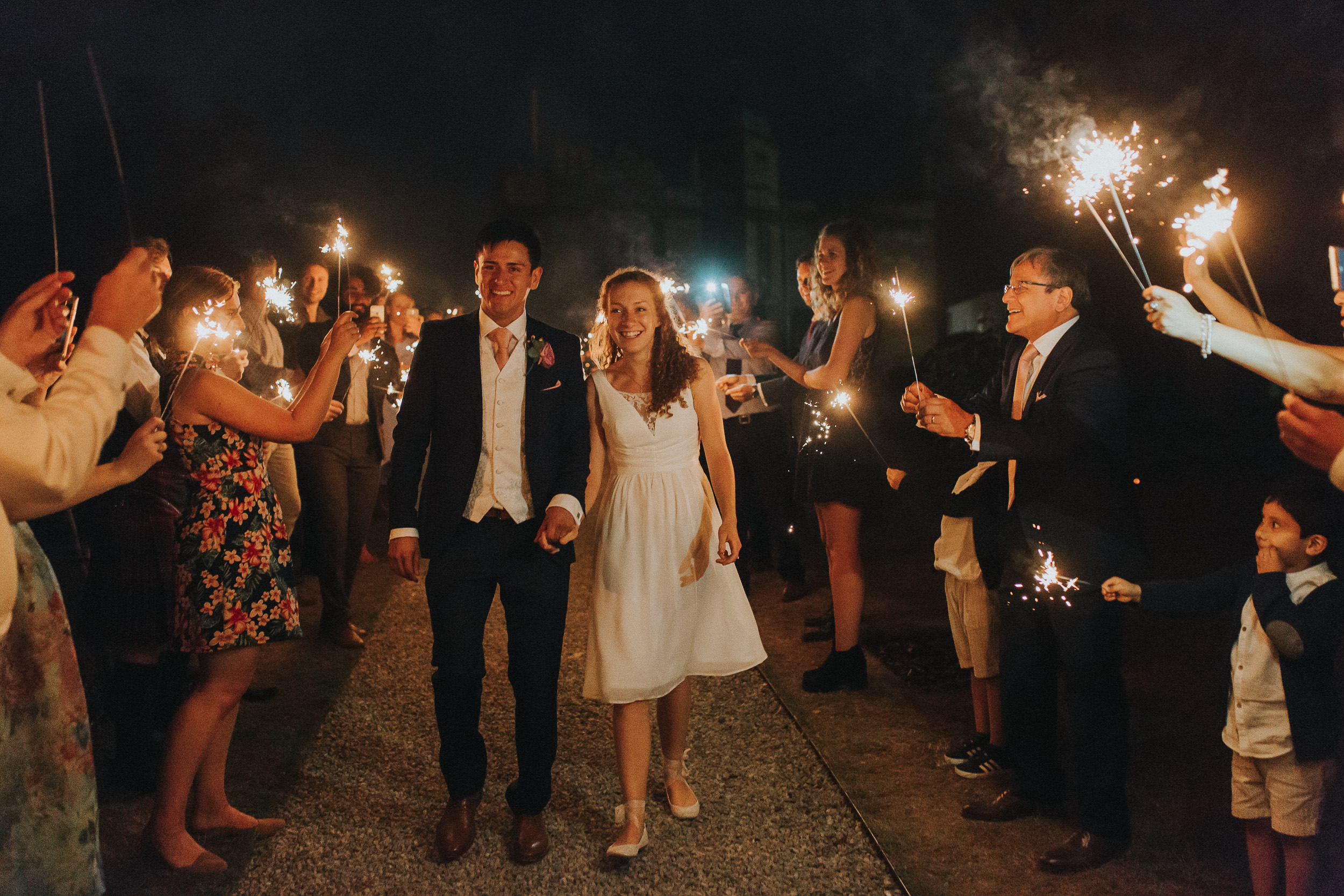 Wedding Wednesdays 6 ways to nail your sparkler exit Annie